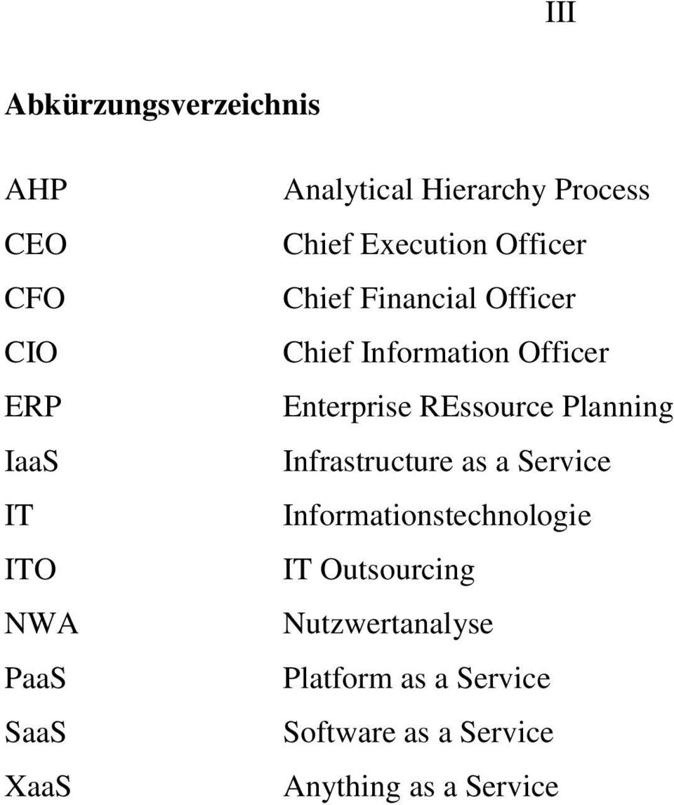 Officer Enterprise REssource Planning Infrastructure as a Service Informationstechnologie