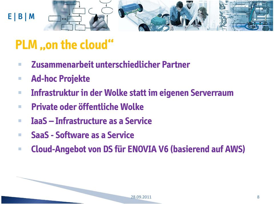 Private oder öffentliche Wolke IaaS Infrastructure as a Service SaaS