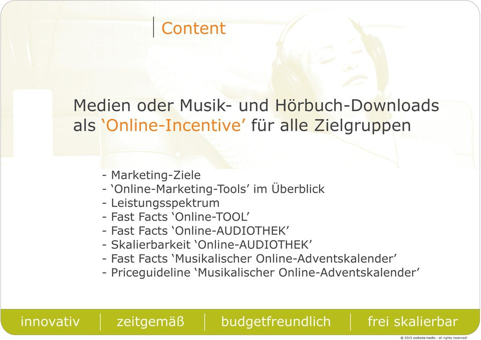 Fast Facts Online-AUDIOTHEK - Skalierbarkeit Online-AUDIOTHEK - Fast Facts Musikalischer