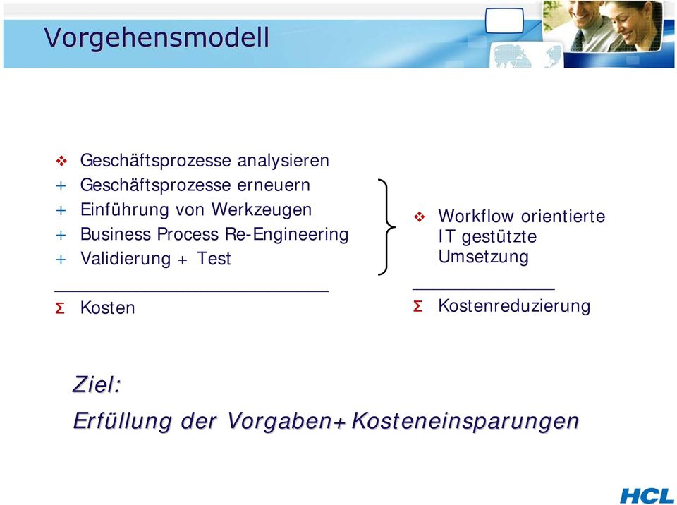 Re-Engineering + Validierung + Test Σ Kosten Workflow orientierte IT