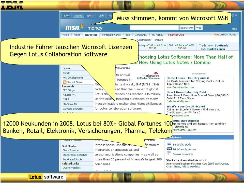 Software 12000 Neukunden in 2008.