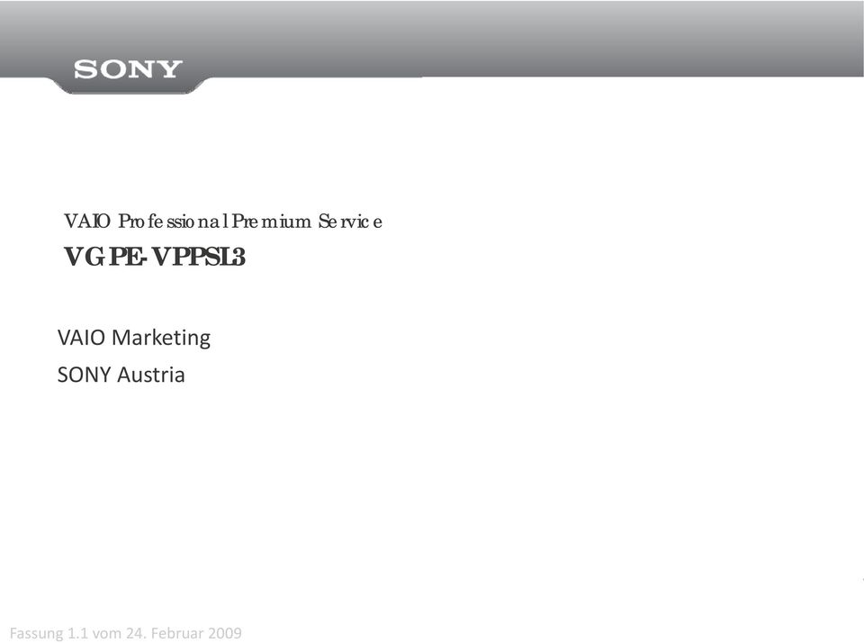 Marketing SONY Austria