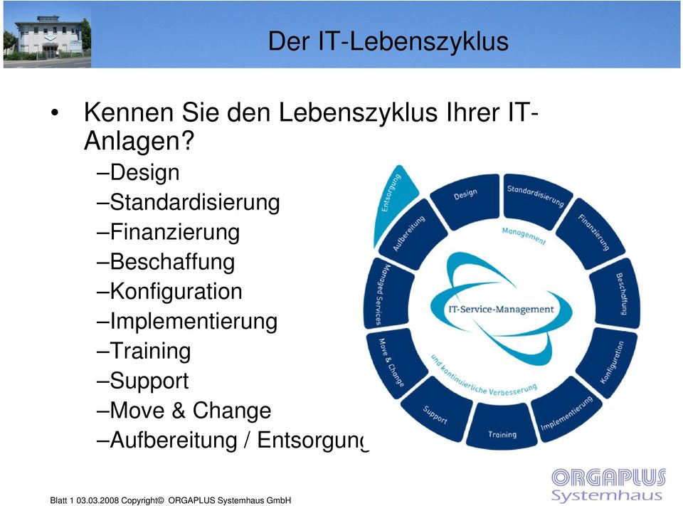 Implementierung Training Support Move & Change Aufbereitung /