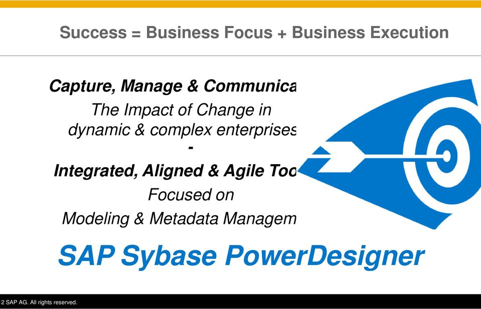 complex enterprises - Integrated, Aligned & Agile Tooling