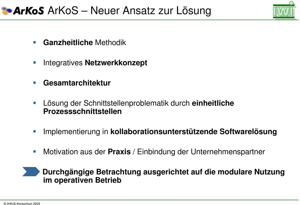 Implementierung in kollaborationsunterstützende Softwarelösung Motivation aus der Praxis /