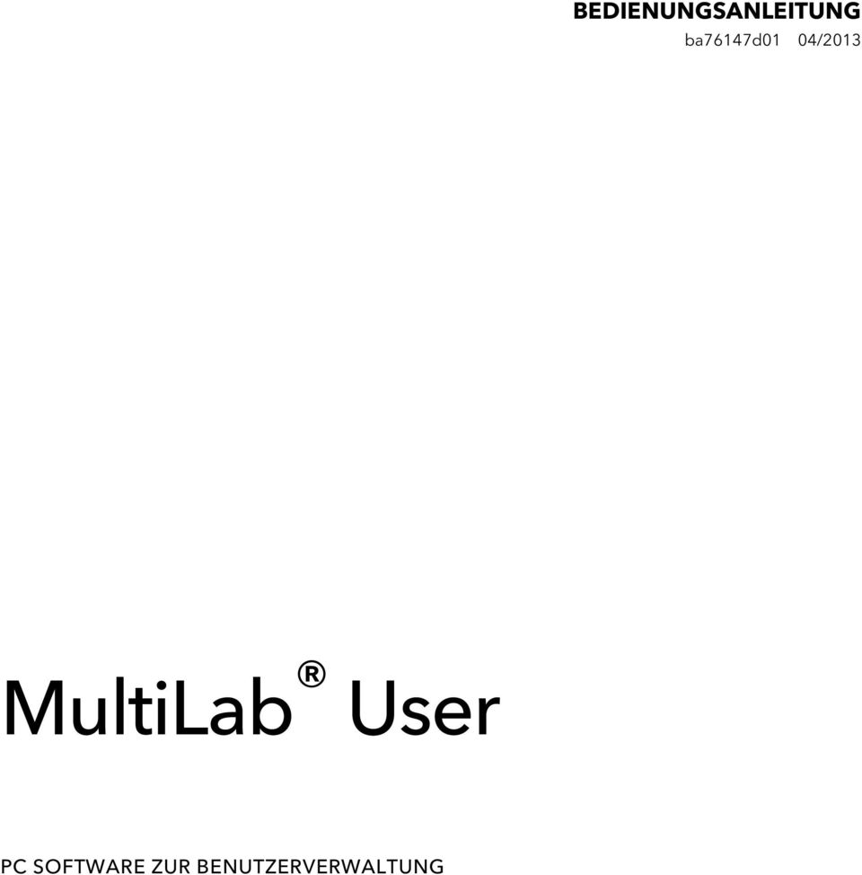 MultiLab User PC