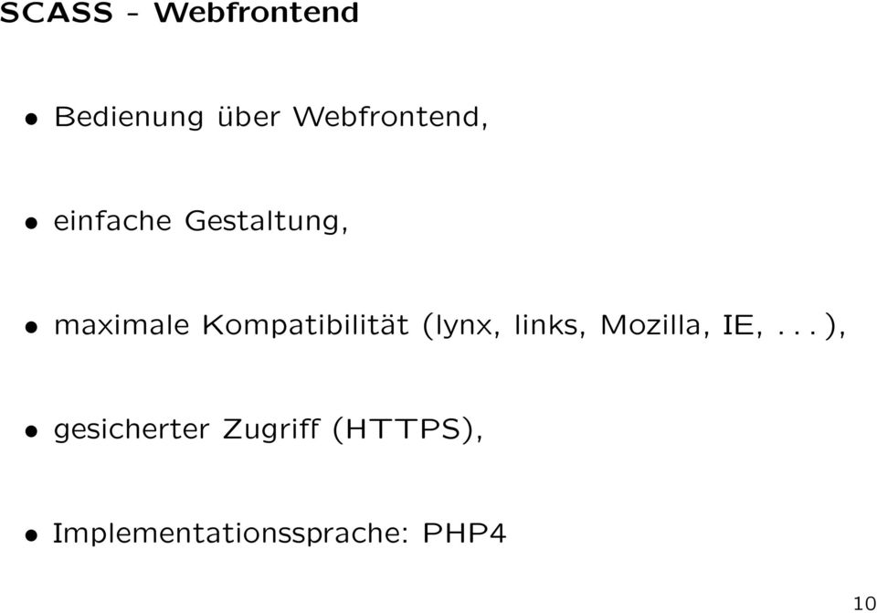 Kompatibilität (lynx, links, Mozilla, IE,.