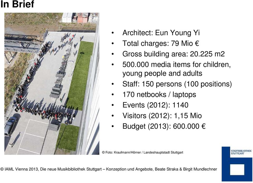 000 media items for children, young people and adults Staff: 150 persons (100