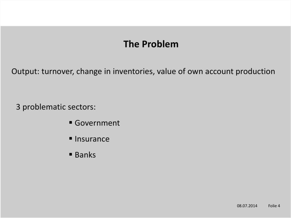 production 3 problematic sectors: