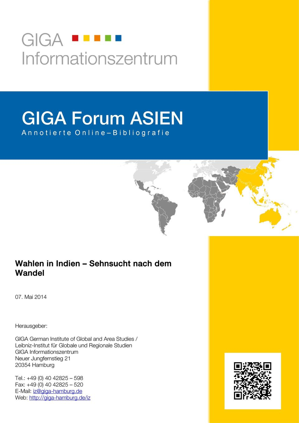 Mai 2014 Herausgeber: GIGA German Institute of Global and Area Studies / Leibniz-Institut für Globale
