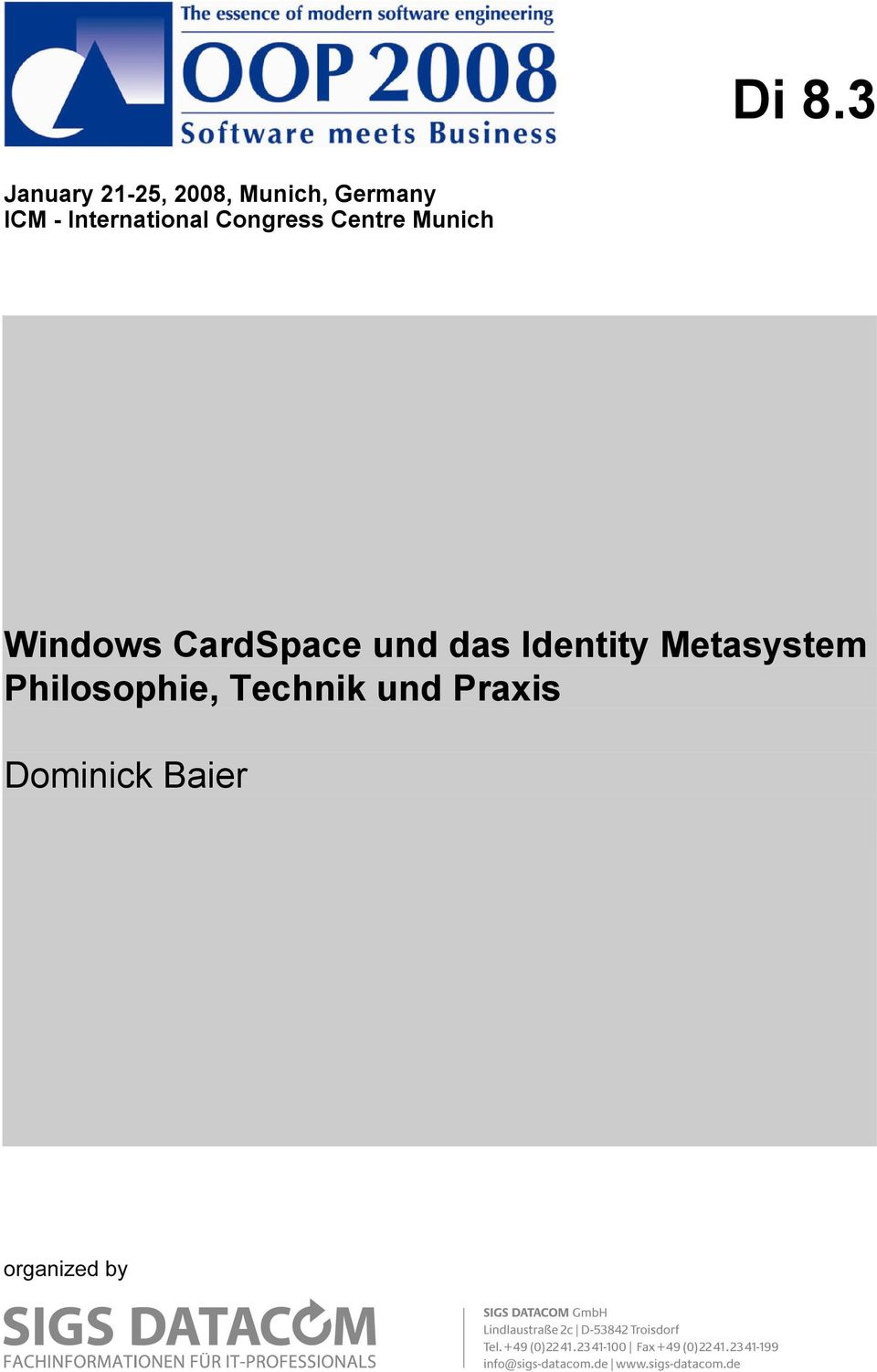 Windows CardSpace und das Identity