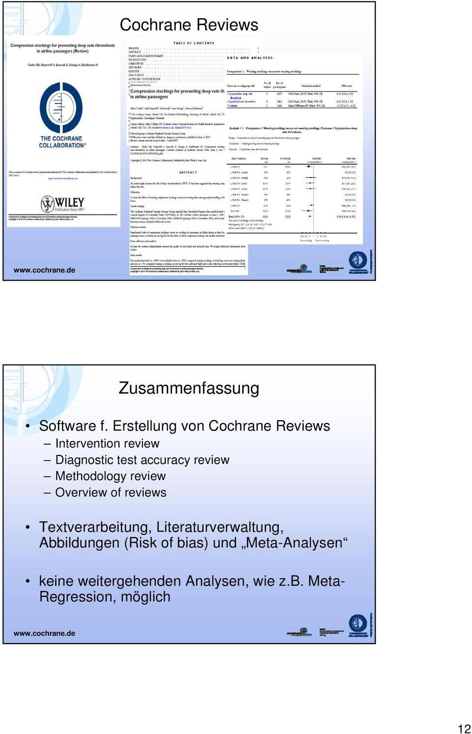 review Methodology review Overview of reviews Textverarbeitung,