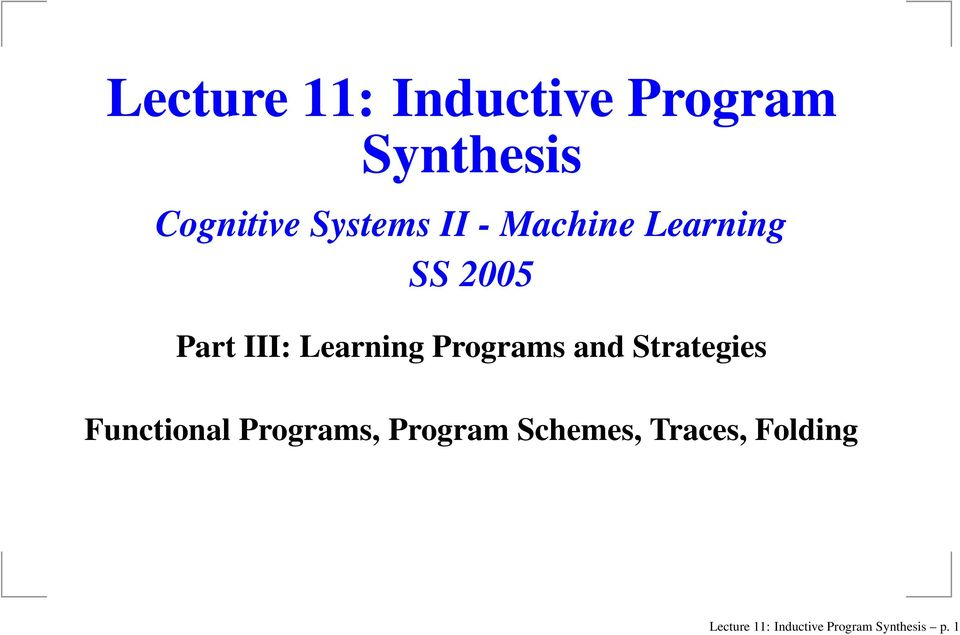 and Strategies Functional Programs, Program Schemes,