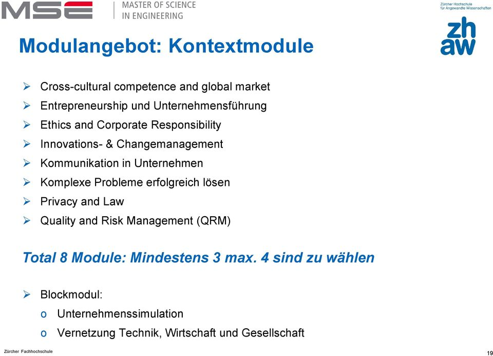 Unternehmen Komplexe Probleme erfolgreich lösen Privacy and Law Quality and Risk Management (QRM) Total 8