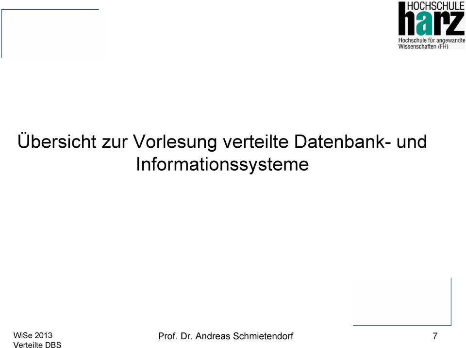 Informationssysteme Prof.