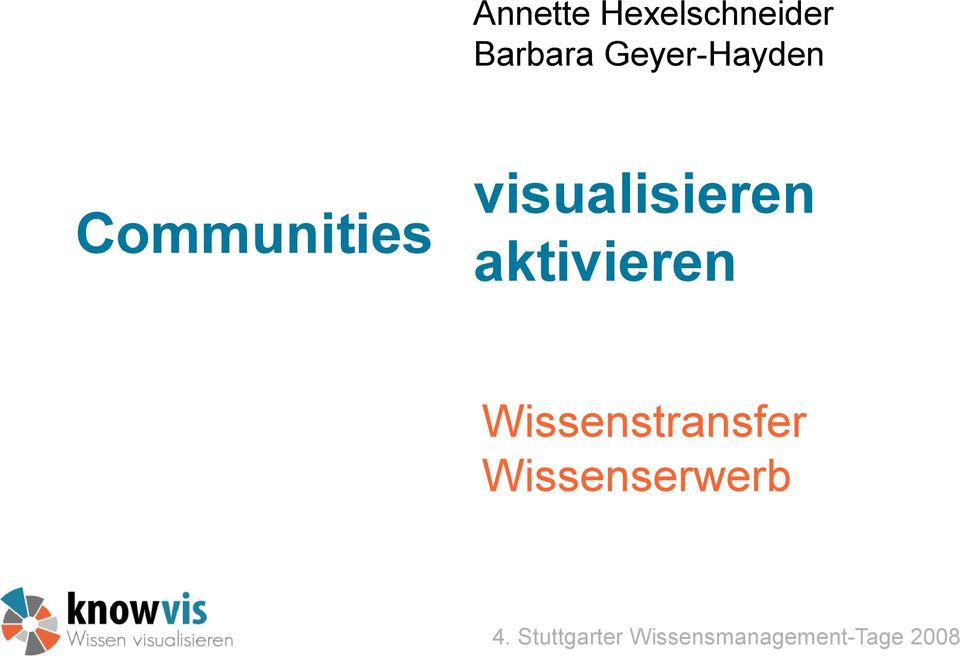 Communities visualisieren