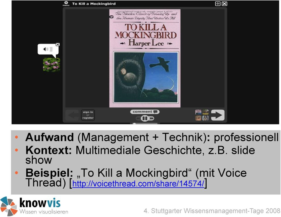 slide show Beispiel: To Kill a Mockingbird