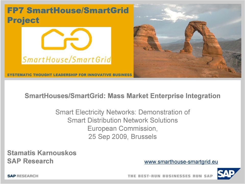 Electricity Networks: Demonstration of Smart Distribution Network Solutions