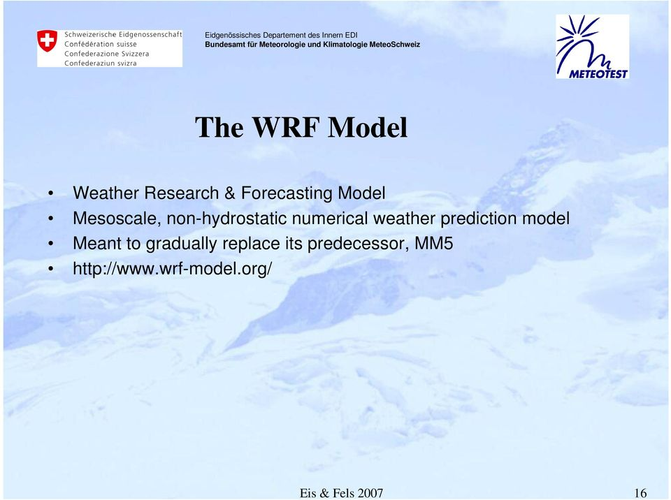 prediction model Meant to gradually replace its