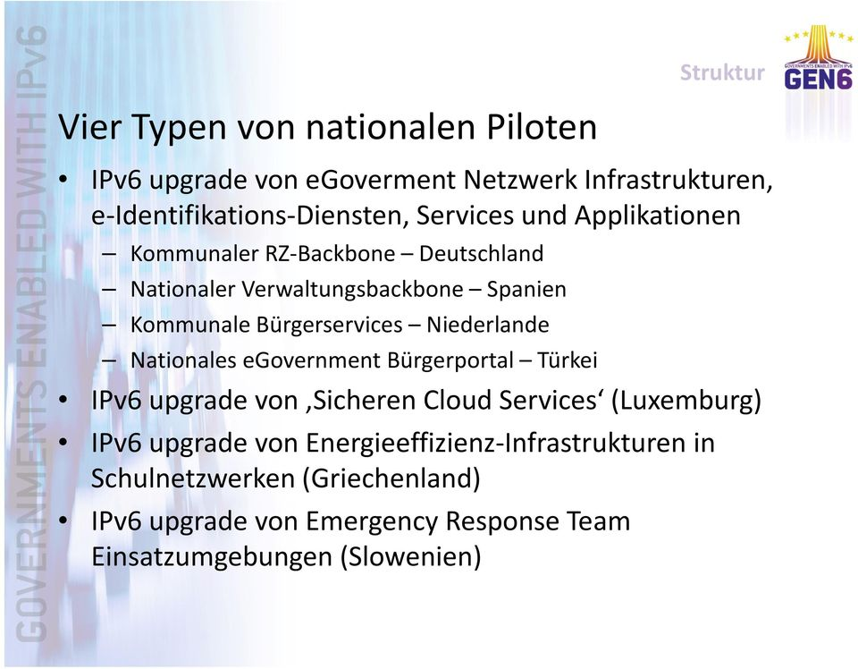 Niederlande Nationales egovernment Bürgerportal Türkei IPv6 upgrade von Sicheren Cloud Services (Luxemburg) IPv6 upgradevon