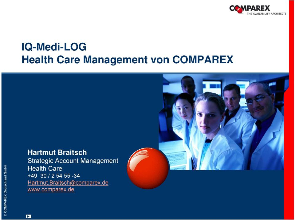 Account Management Health Care +49 30 / 2 54