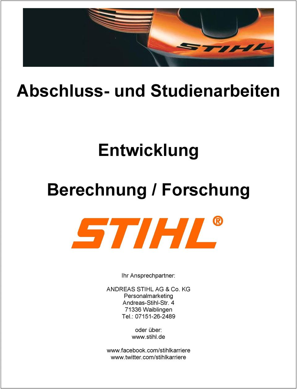 KG Personalmarketing Andreas-Stihl-Str.