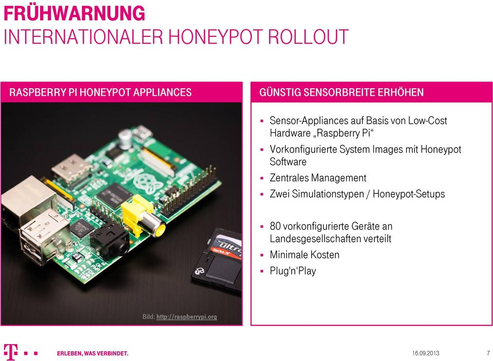 mit Honeypot Software Zentrales Management Zwei Simulationstypen / Honeypot-Setups 80 vorkonfigurierte