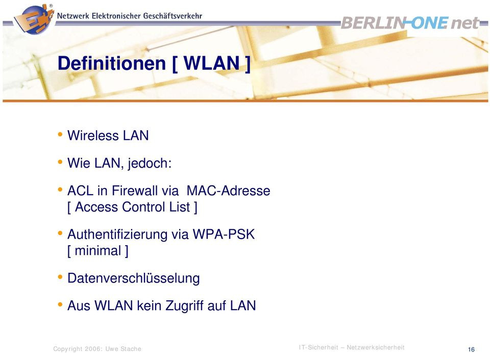 Control List ] Authentifizierung via WPA-PSK [