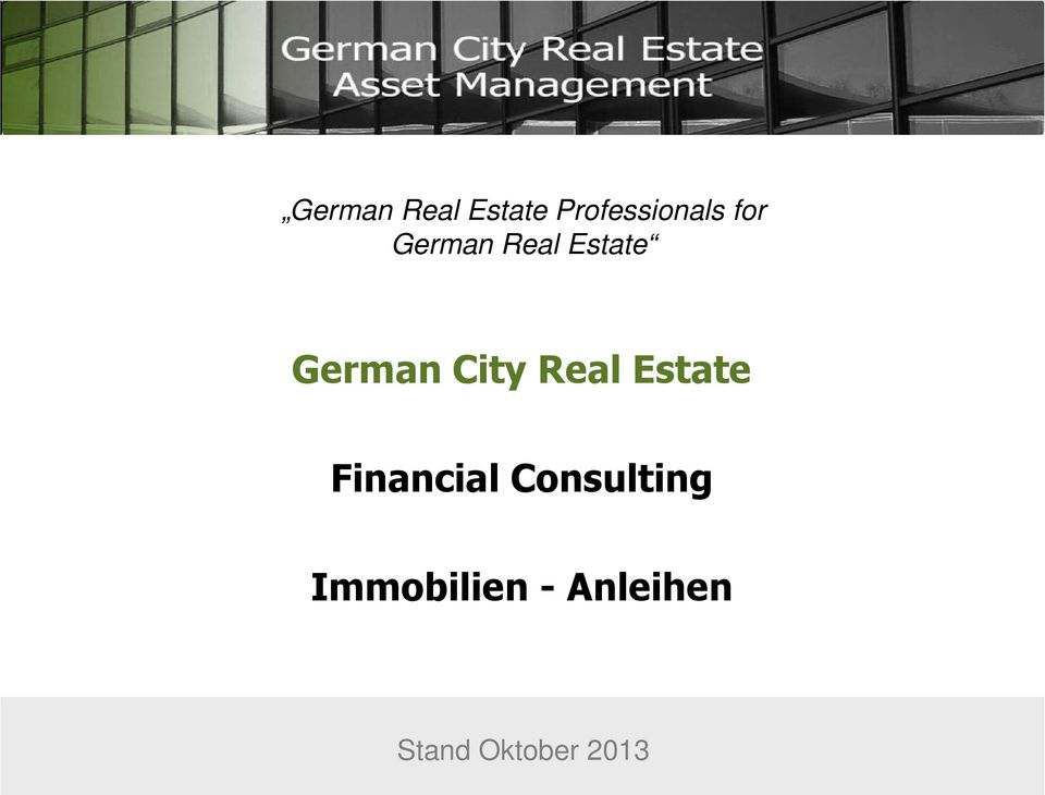 Real Estate Financial Consulting