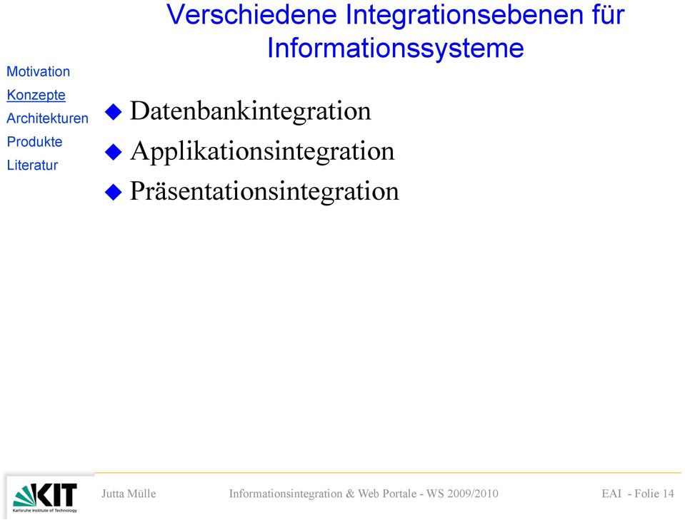 Informationssysteme Datenbankintegration