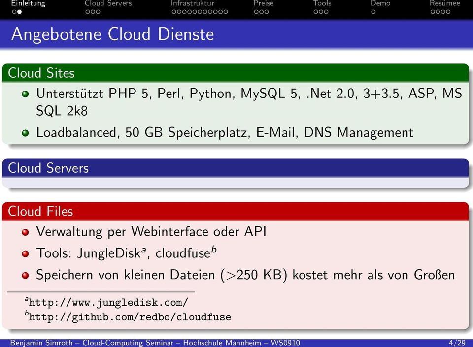 5, ASP, MS SQL 2k8 Loadbalanced, 50 GB Speicherplatz, E-Mail, DNS Management Cloud Servers Cloud Files Verwaltung per