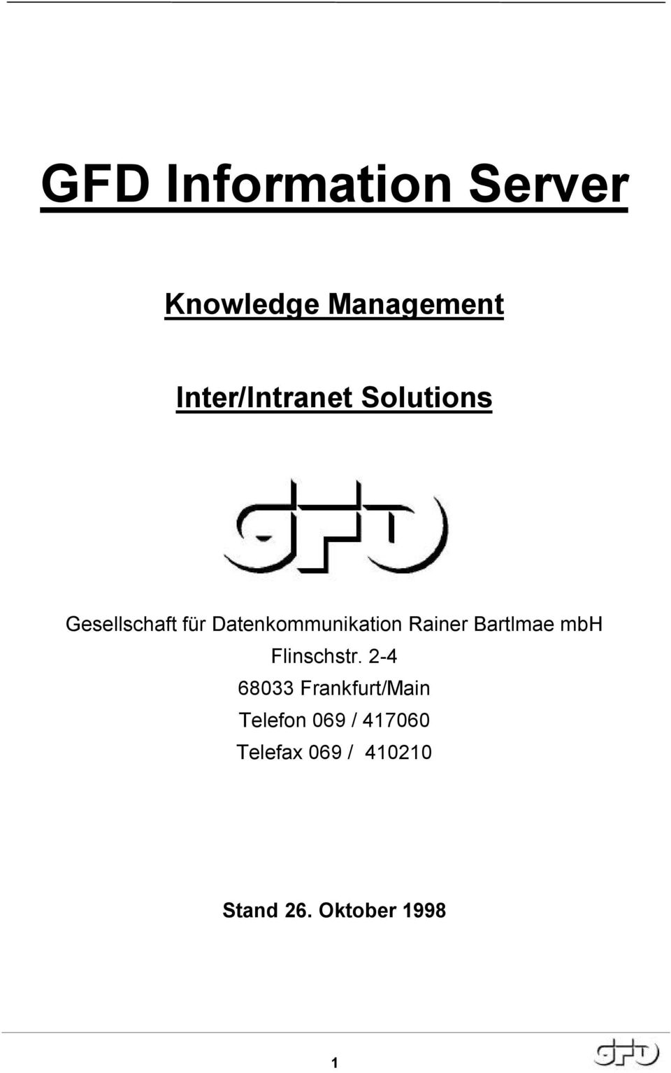 Datenkommunikation Rainer Bartlmae mbh Flinschstr.