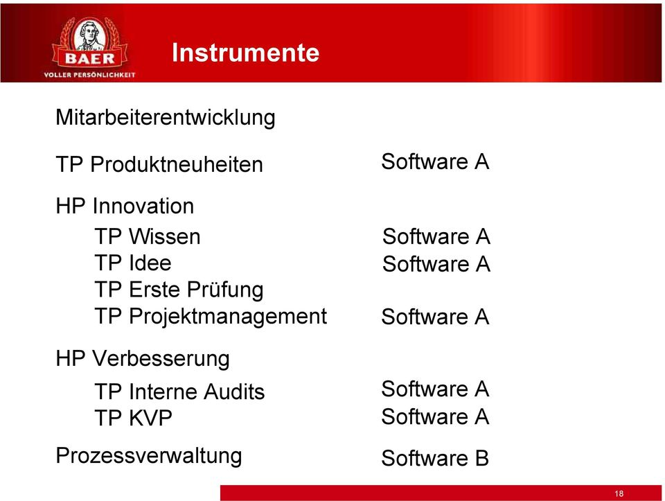 Projektmanagement HP Verbesserung TP Interne Audits TP KVP