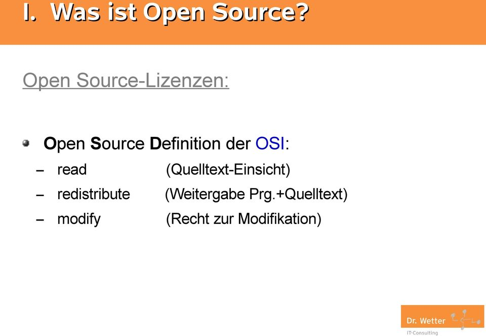 Definition der OSI: read