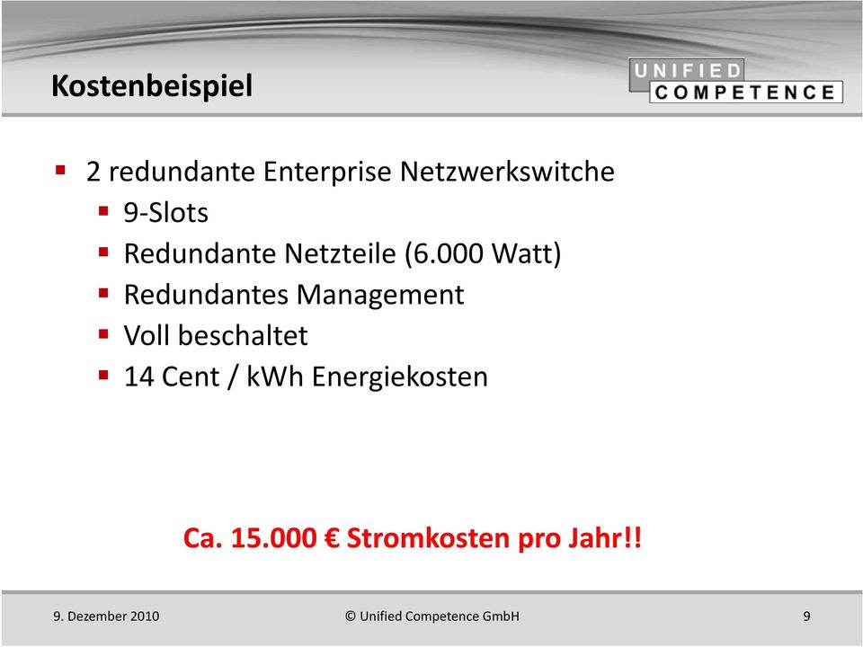 000 Watt) Redundantes Management Voll beschaltet 14 Cent /