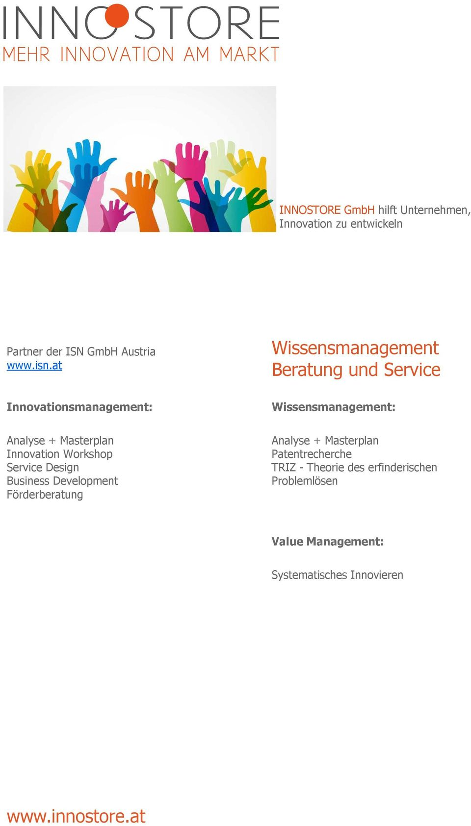 Masterplan Innovation Workshop Service Design Business Development Förderberatung Analyse +
