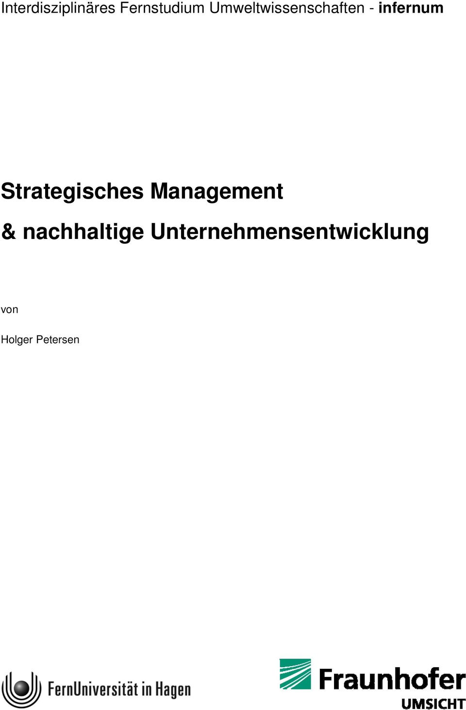 Strategisches Management &