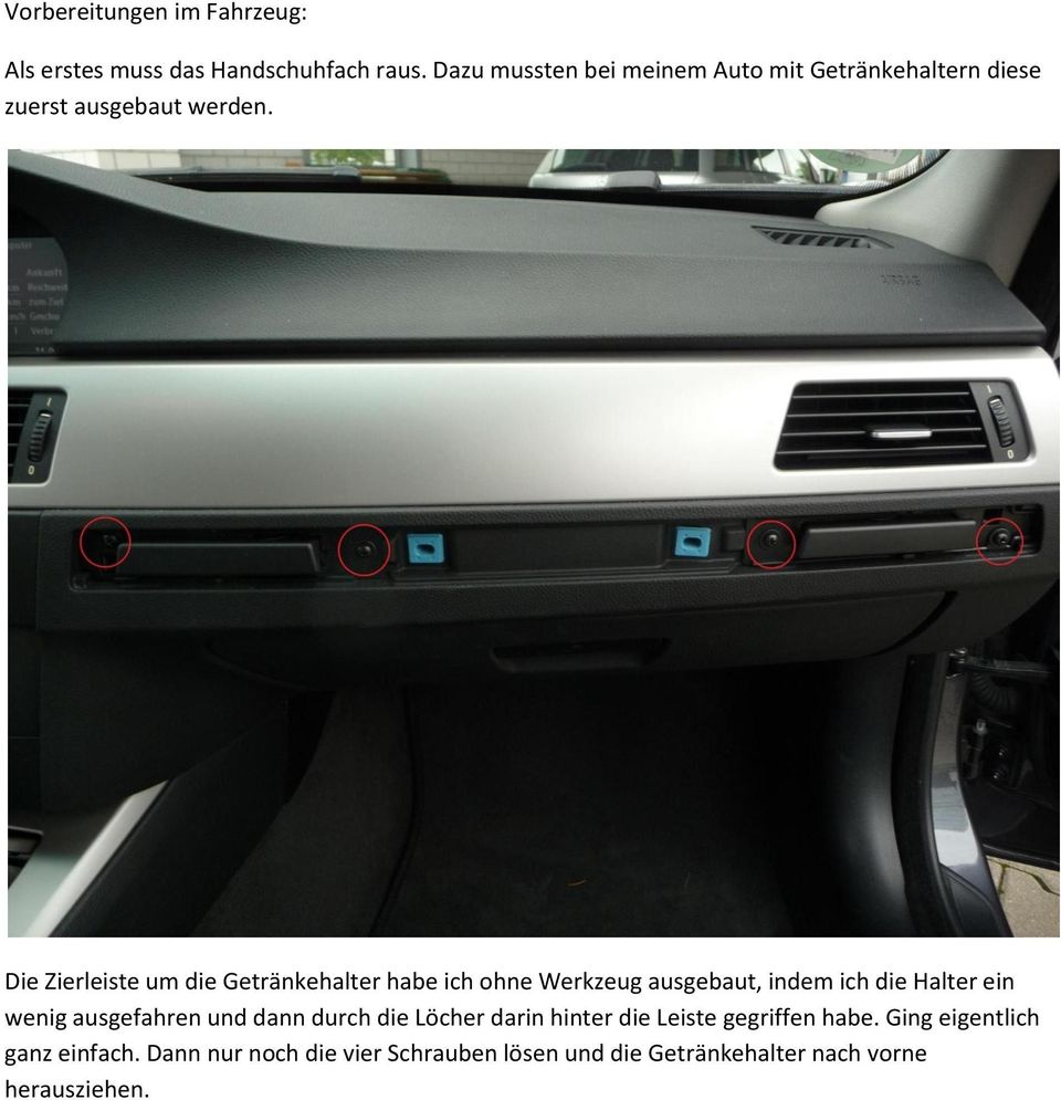 einbauanleitung ipodinterface bmw e90 e91 mit navi. Black Bedroom Furniture Sets. Home Design Ideas