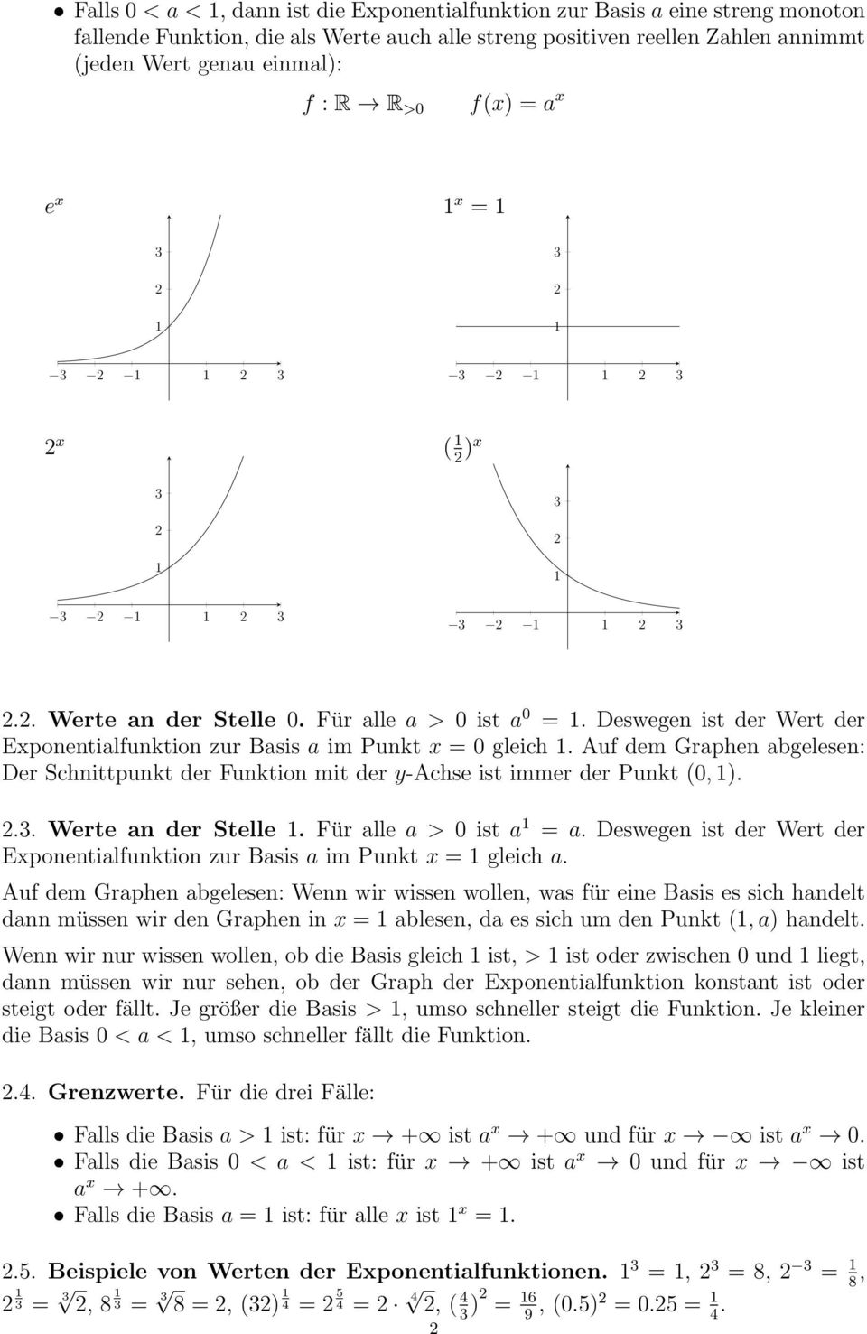 Exponentialfunktion, Logarithmus - PDF