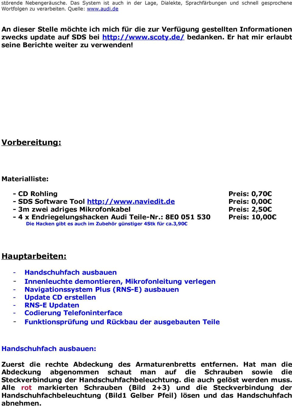 Charming Superb Vorbereitung: Materialliste: CD Rohling SDS Software Tool Http://www.