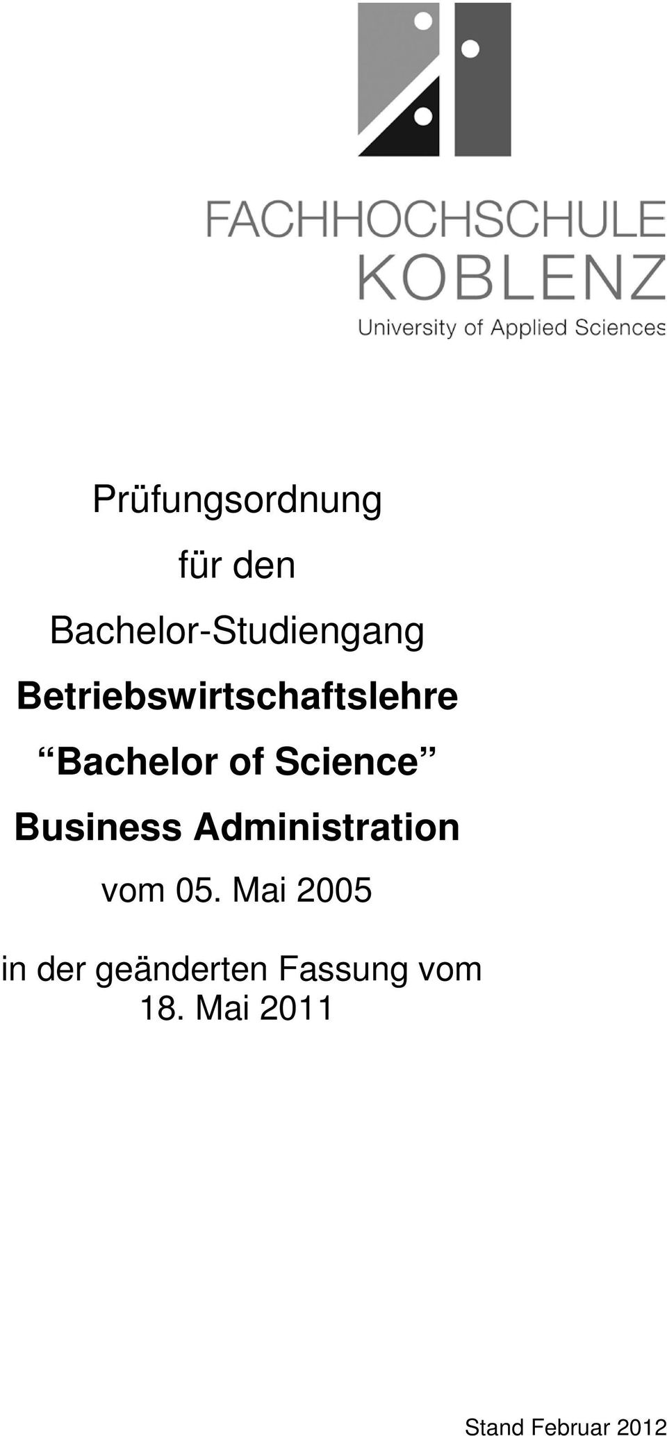 Business Administration vom 05.
