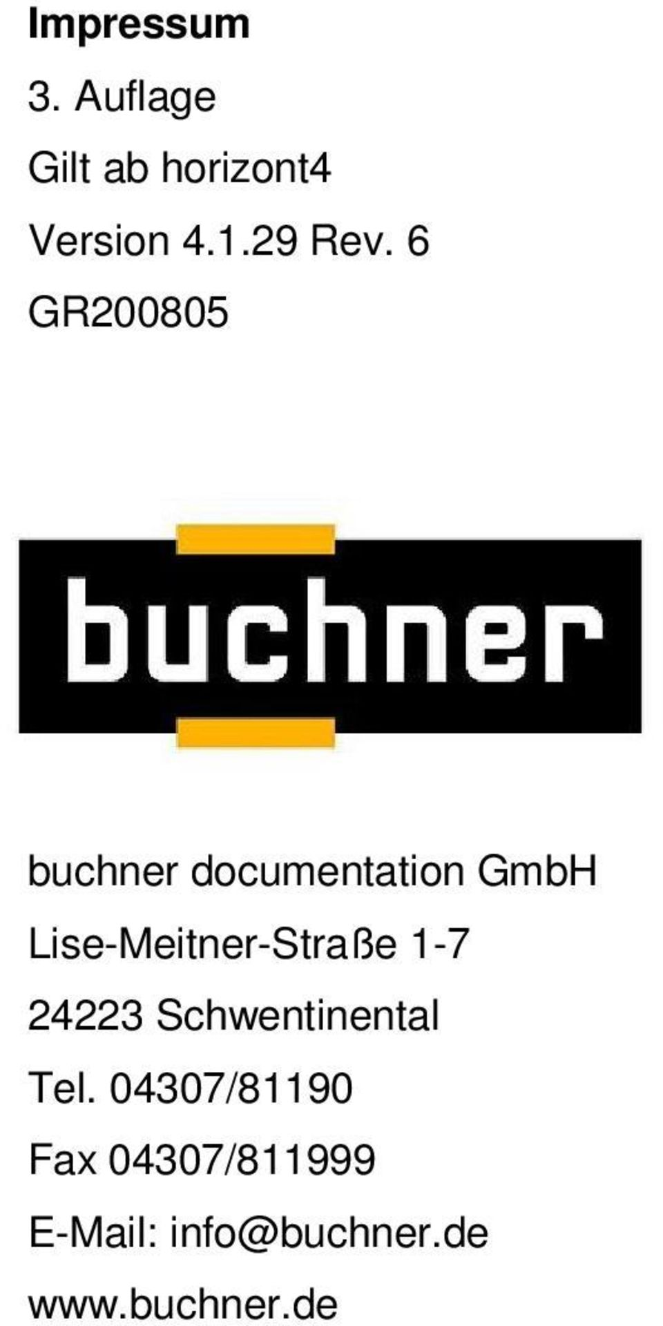 6 GR200805 buchner documentation GmbH