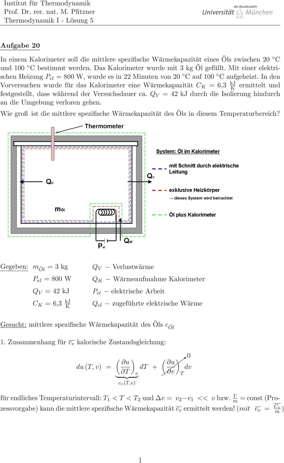 totales differential thermodynamik