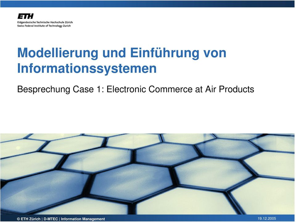 1: Electronic Commerce at Air Products