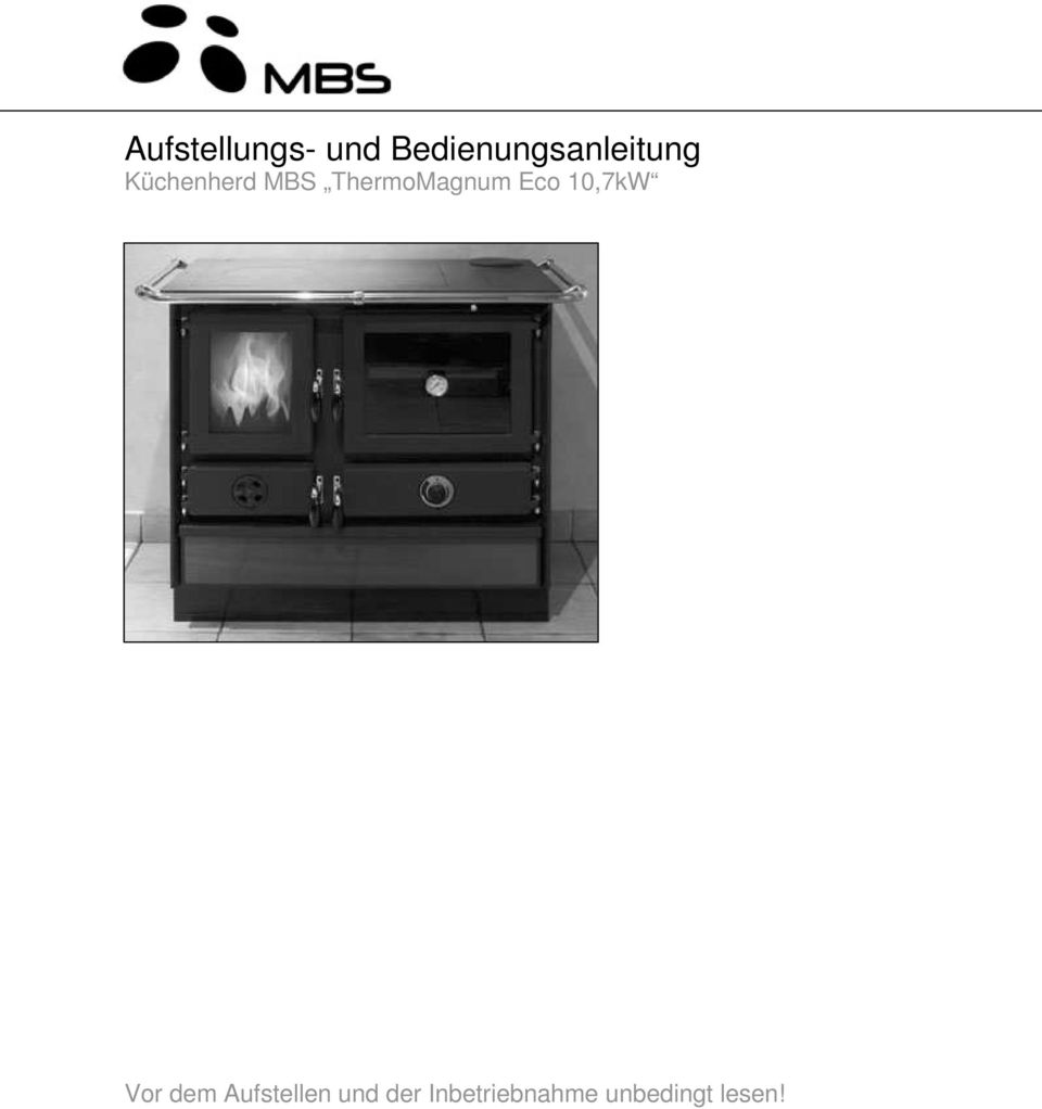 aufstellungs und bedienungsanleitung k chenherd mbs thermomagnum eco 10 7kw pdf. Black Bedroom Furniture Sets. Home Design Ideas