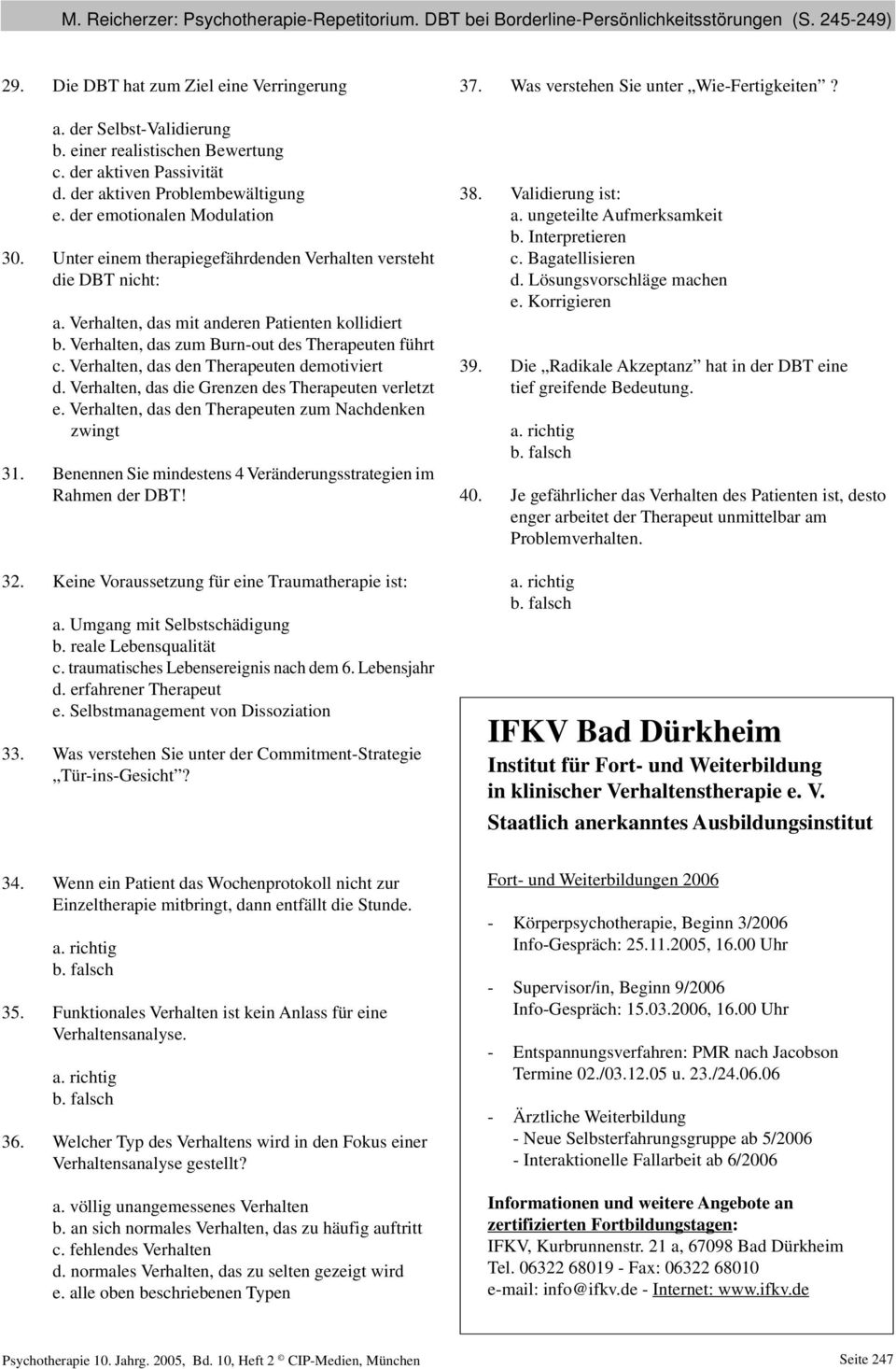 DIALEKTISCH-BEHAVIORALE THERAPIE - PDF