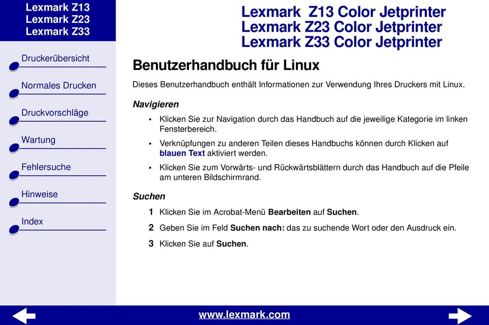 Lexmark Z13 Color Jetprinter Lexmark Z23 Color Jetprinter Lexmark ...