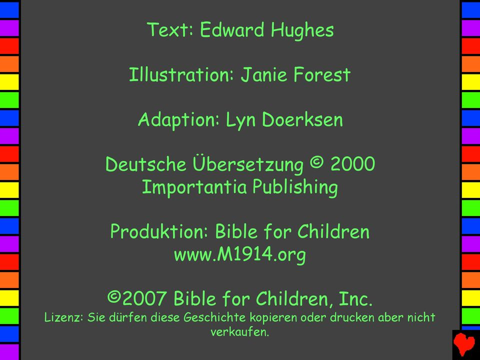 Produktion: Bible for Children www.m1914.