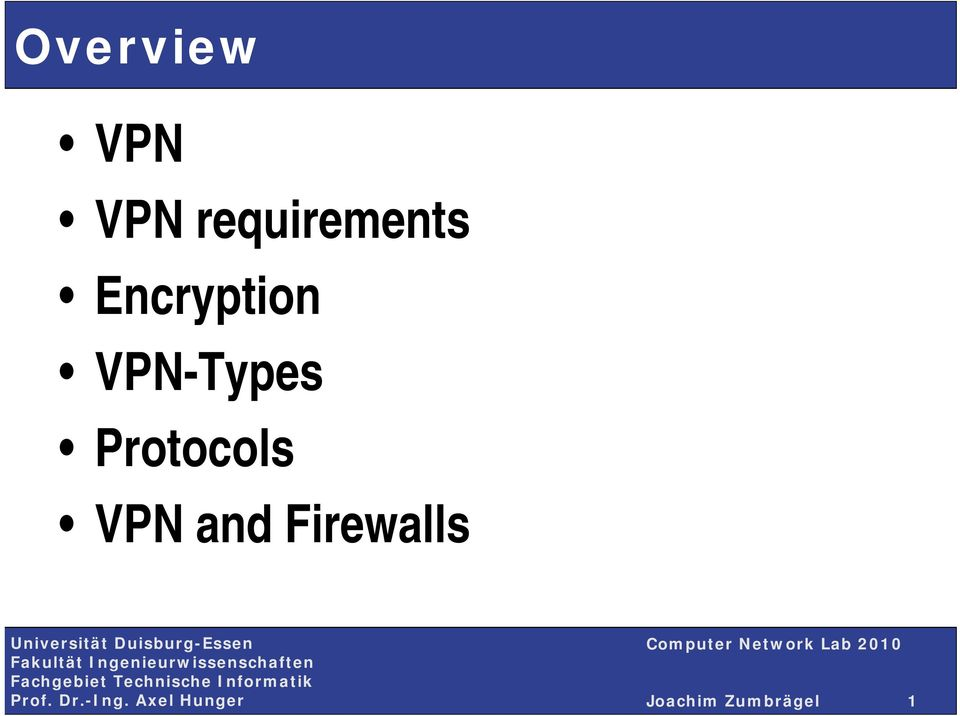 VPN-Types Protocols VPN