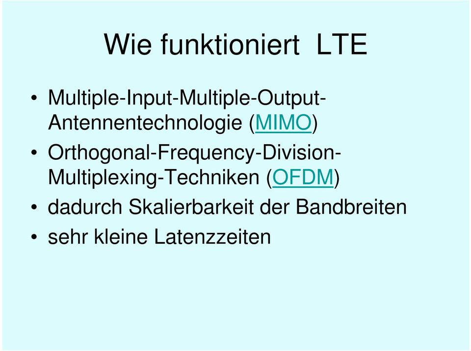 Antennentechnologie (MIMO)